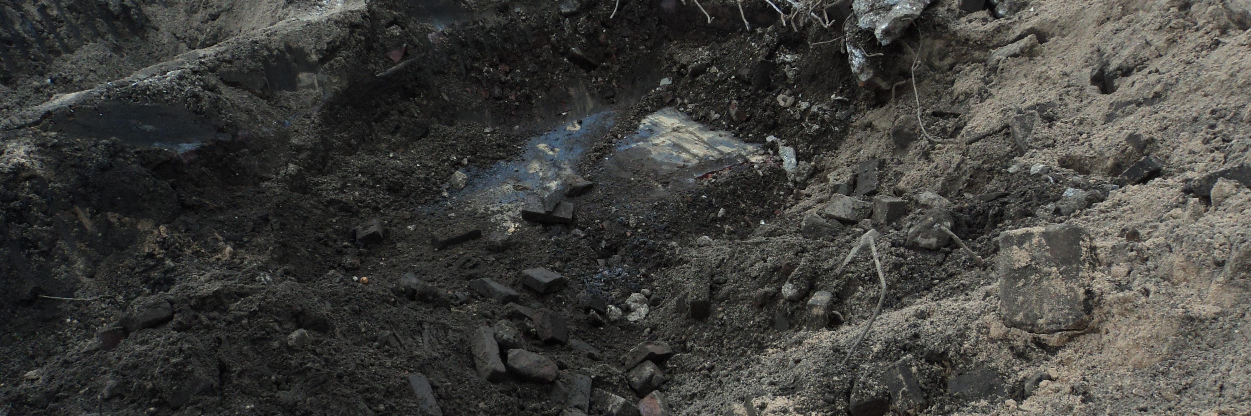 Vervuilde grond
